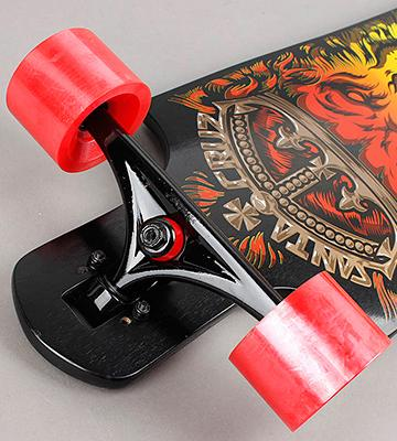 Review of Santa Cruz Lion God Rasta Cruzer Freeride Longboard