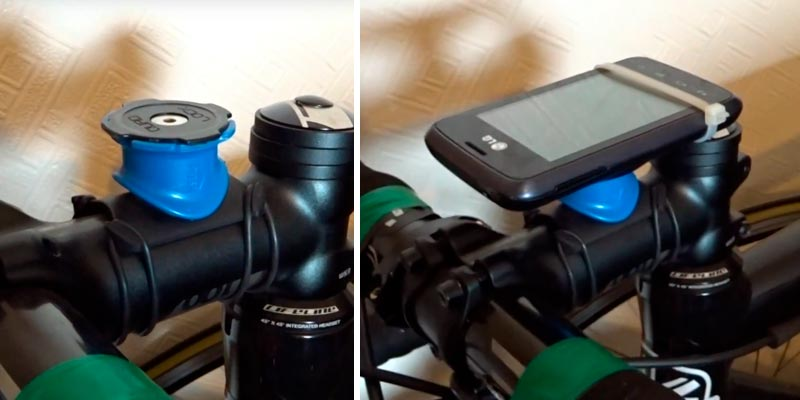 Quad Lock UNI2 Universal Bike Mount Kit in the use