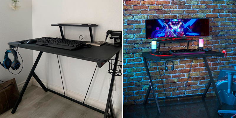 Review of MOTPK 40 inch Gaming Desk with Monitor Shelf