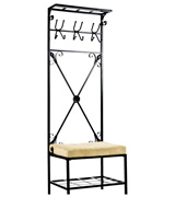 Southern Enterprises, Inc. Entryway Storage Rack with Bench Seat