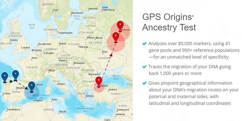 HomeDNA GPS Origins Ancestry Test in the use