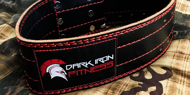 Dark Iron Fitness Leather Pro Weight lifting Belt application