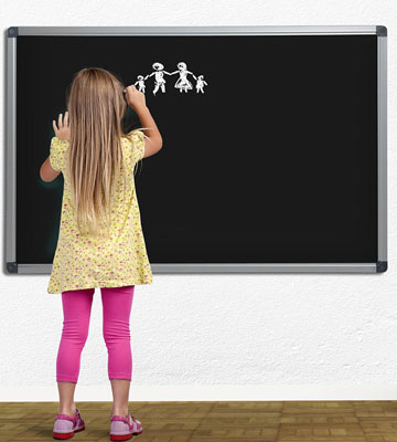 Review of Master of Boards Black Magnetic Chalk Board Aluminium Framed
