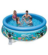 Intex Ocean Reef Easy Set Inflatable Family Pool