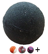 Soapie Shoppe MIDNIGHT ORIGINAL Jet Black Bath Bomb