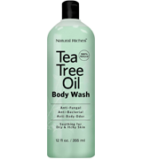 Natural Riches TeaTree Oil Body Wash Antifungal, Peppermint & Eucalyptus Oil Antibacterial Soap