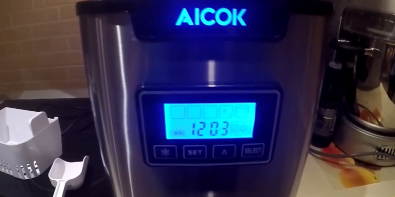 Review of Aicok Counter Top Stainless Steel Portable Ice Maker Machine
