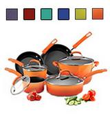 Rachael Ray Hard Enamel 10-Piece Induction Cookware Set
