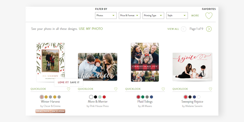 Minted Personalized Photo Cards in the use