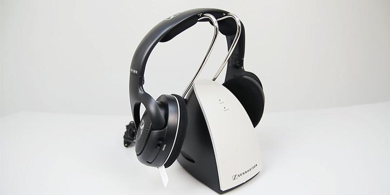 Sennheiser RS120 On-Ear Wireless RF Headphones with Charging Dock in the use
