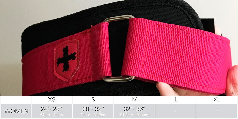 Harbinger Women's Nylon Weightlifting Belt in the use