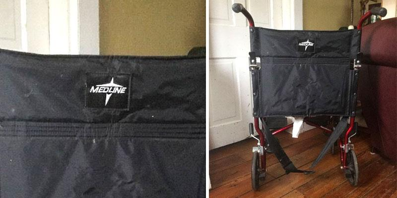 Medline MDS808210ARE Transport Wheelchair with Brakes in the use