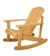 Giantex HW50297 Adirondack Rocking Chair, Natural Fir Wood