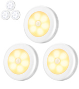 Amir Pack of 3 Motion Sensor Light, Cordless Battery-Powered LED Night Light