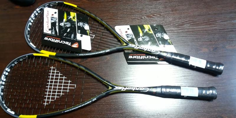 Tecnifibre CarboFlex 125 Squash Racquet in the use