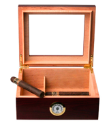Mantello Cigars GLASSTOP Desktop Royale Humidor
