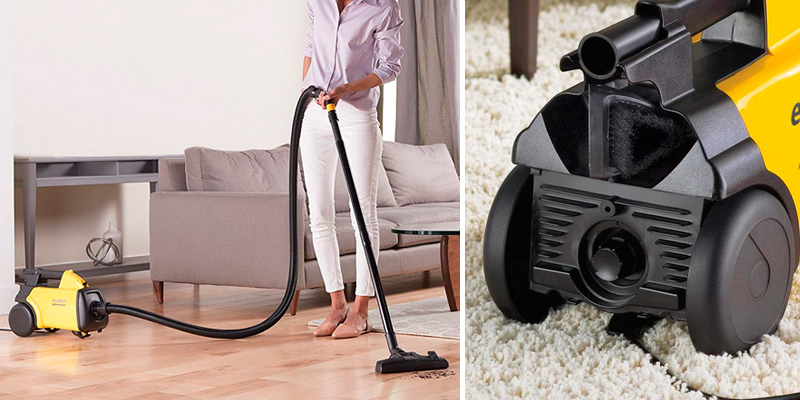 Eureka Mighty Mite 3670G Corded Canister Vacuum Cleaner in the use