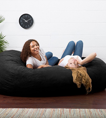 Review of Big Joe 0001178 XXL Fuf Foam Filled Bean Bag Chair, Comfort Suede, Black Onyx
