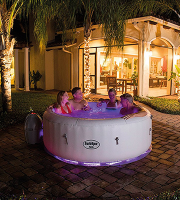 Review of Bestway 54149E SaluSpa Paris AirJet Inflatable Hot Tub w/ LED Light Show