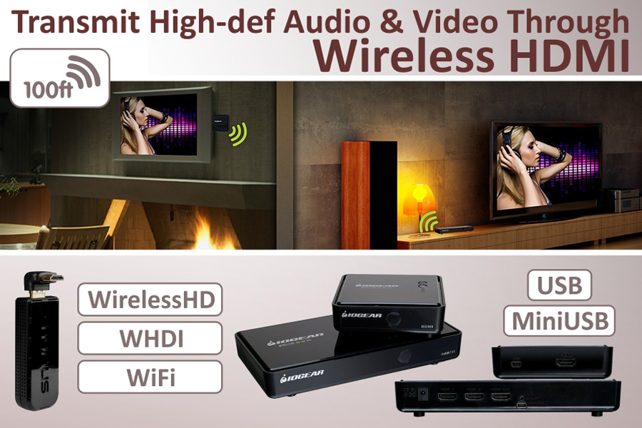Comparison of Wireless HDMI to Get Rid of Messes of Wires