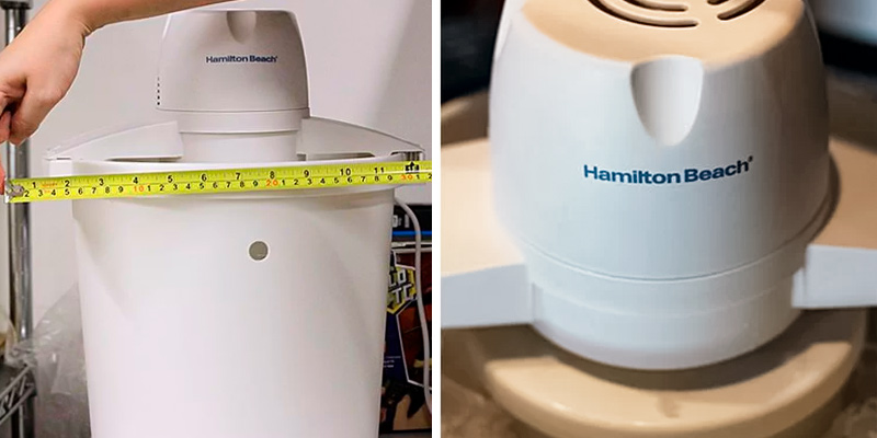 Hamilton Beach 68330N Ice Cream Maker in the use