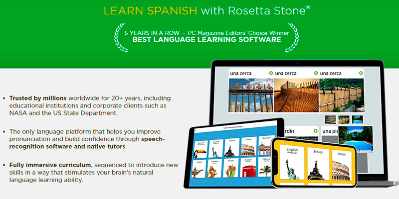 Review of Rosetta Stone Learn Spanish Online