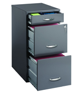 CommClad 20205 Hirsh SOHO 3 Drawer File Cabinet