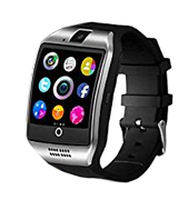 Kindak Q18-black Bluetooth Smart Watch with Camera