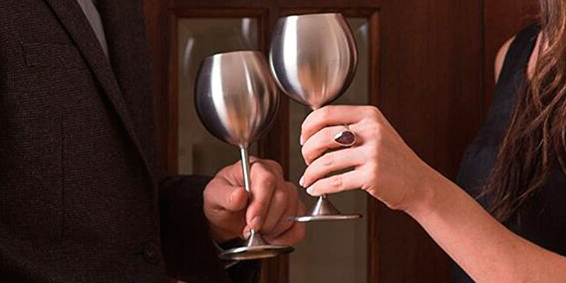Modern Innovations Stainless Steel Wine Glasses application