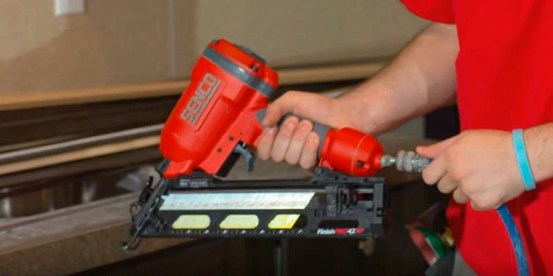 Senco 4G0001N FinishPro 42XP Finish Nailer in the use