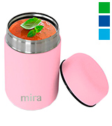 MIRA Brands Lunch Thermos, 13.5 Oz, Rose Pink Vacuum Insulated Stainless Steel