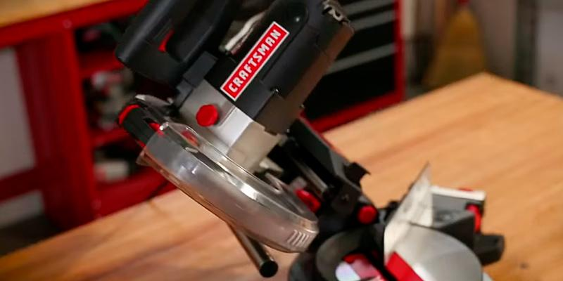 "Craftsman 21237 10"" Single Bevel Sliding Miter Saw in the use"