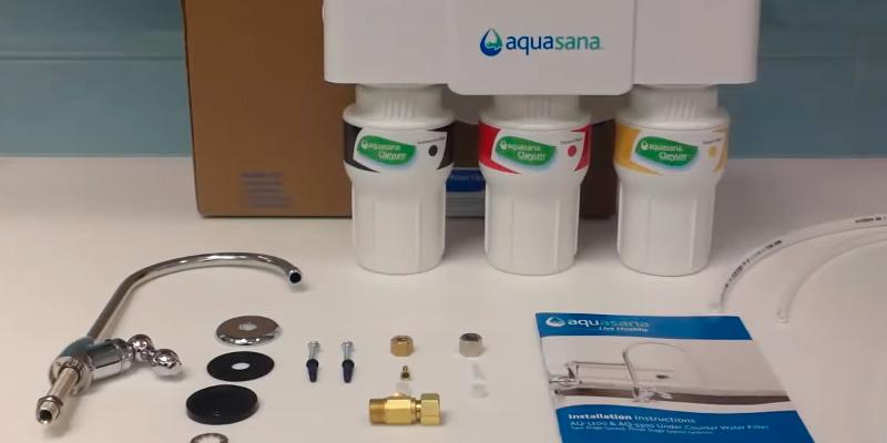 Aquasana AQ-5300.55 Water Filter System in the use