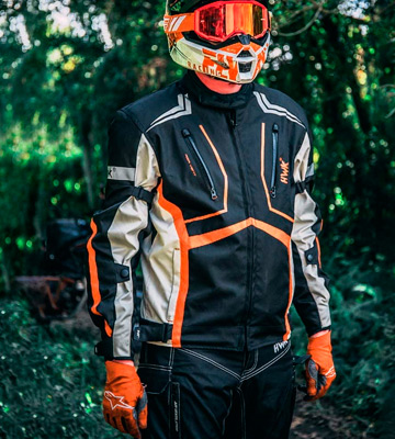 Review of HWK Dualsport Enduro Motocross Jacket For Men Textile Motorbike