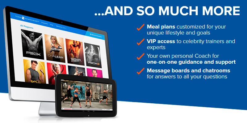 Beachbody Diet&Fitness Complete package application