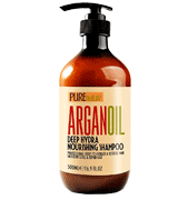 Pure Nature Lux Spa Moroccan Argan Oil Shampoo Best for Damaged, Dry, Curly or Frizzy Hair