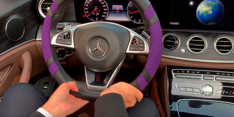 Review of BOKIN Steering Wheel Cover Microfiber Leather and Viscose