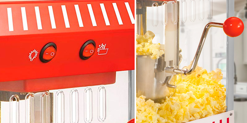 Nostalgia KPM200 Popcorn Maker in the use