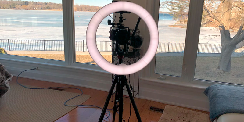 Review of PIXEL Ring Light with Wireless Remote and iPad Holder, Pixel 19""