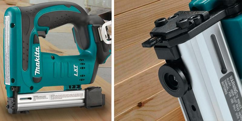 Makita XTS01Z 18V LXT Crown Stapler in the use