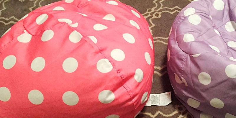 Review of Big Joe 0630251 Classic Bean Bag Chair Candy Pink Polka Dot & 5 Best Bean Bag Chairs for Kids Reviews of 2018 - BestAdvisor.com