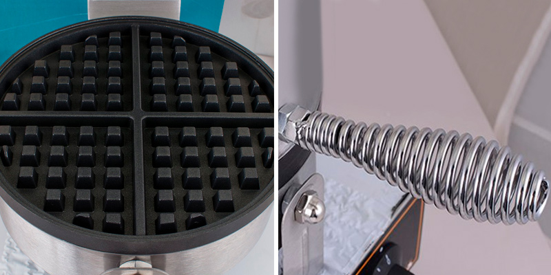 Vinmax Belgian Waffle Baker Machine in the use