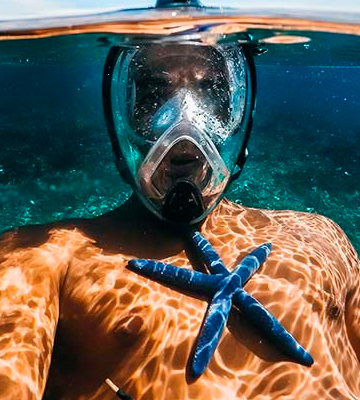 Review of WildHorn Outfitters Panoramic Full Face Mask Seaview 180° GoPro Compatible Snorkel Mask