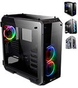 Thermaltake CA-1I7-00F1WN-01 View 71 RGB 4-Sided Full Tower Computer Case Tempered Glass