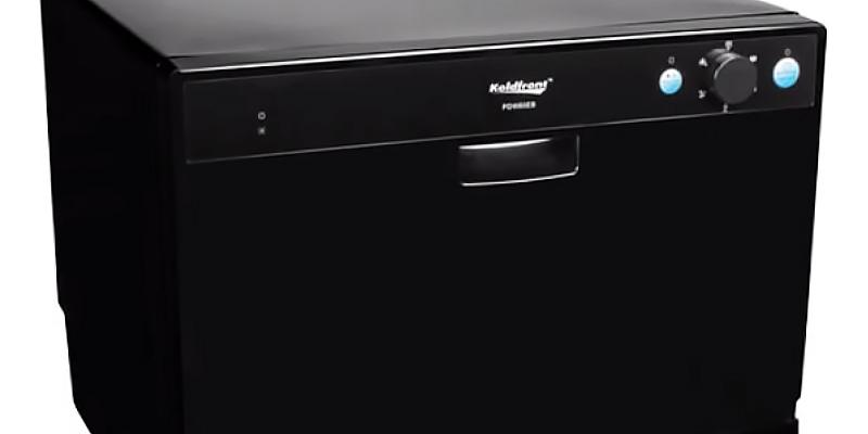 Review of Koldfront 6 Place Settings Portable Countertop Dishwasher, Black