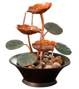 Bits and Pieces COMINHKPR76530 Water Lily Tabletop Fountain