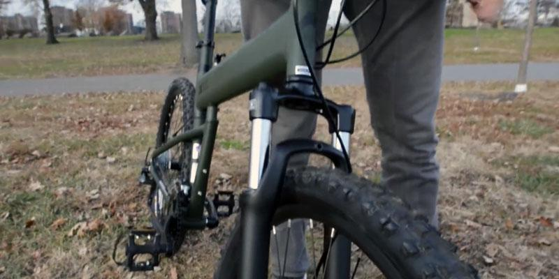 Montague Paratrooper Mountain Folding Bike in the use