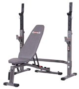 Body Champ BCB3835/PRO3900 Two Piece Set Olympic Weight Bench with Squat Rack
