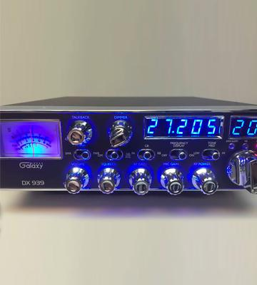 Review of Galaxy Radios DX-959B Mobile CB Radio, Blue Frequency