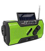 RunningSnail MD-090 Solar Crank NOAA Weather Radio For Emergency with AM/FM, Flashlight, Reading Lamp And 2000mAh Power Bank